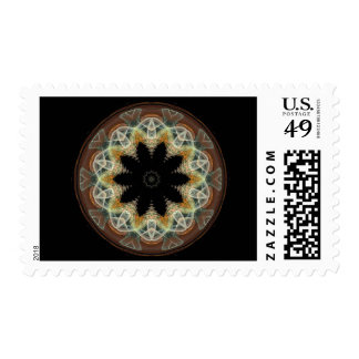 Circled Flower Postage Stamps