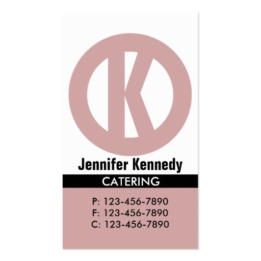 Circled Logo Business Card/ Tan Double-Sided Standard Business Cards (Pack Of 100)