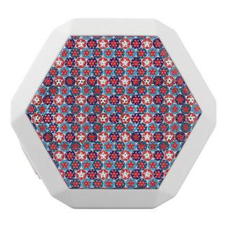 Circled Patriotic Stars Pattern White Boombot Rex Bluetooth Speaker