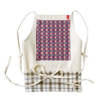 Circled Patriotic Stars Pattern Zazzle HEART Apron