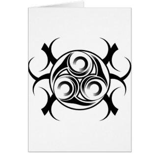 Circled Tribal Tattoo Card