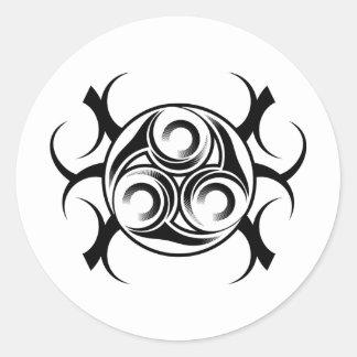 Circled Tribal Tattoo Classic Round Sticker