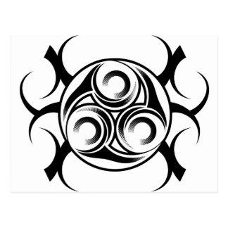 Circled Tribal Tattoo Postcard