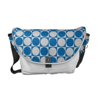 Circlee Squaree Blue Messenger Bag