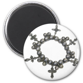 CircleOfCrosses053109 Imán Redondo 5 Cm