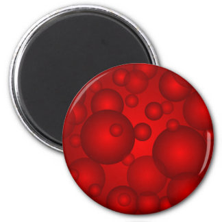 Circler rojo en un backgroiund rojo imán de nevera