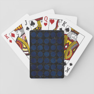 CIRCLES1 BLACK MARBLE & BLUE DENIM PLAYING CARDS