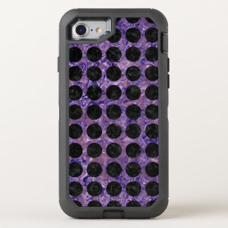 CIRCLES1 BLACK MARBLE & PURPLE MARBLE (R) OtterBox DEFENDER iPhone 7 CASE