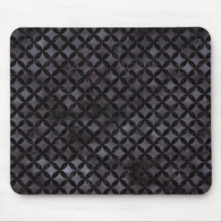 CIRCLES3 BLACK MARBLE & BLACK WATERCOLOR (R) MOUSE PAD