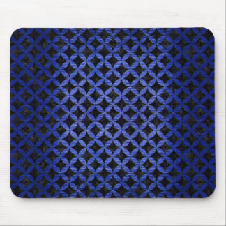 CIRCLES3 BLACK MARBLE & BLUE BRUSHED METAL MOUSE PAD