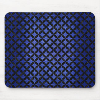 CIRCLES3 BLACK MARBLE & BLUE BRUSHED METAL (R) MOUSE PAD
