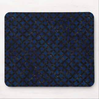 CIRCLES3 BLACK MARBLE & BLUE GRUNGE (R) MOUSE PAD