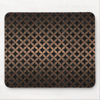 CIRCLES3 BLACK MARBLE & BRONZE METAL MOUSE PAD