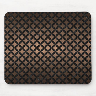 CIRCLES3 BLACK MARBLE & BRONZE METAL (R) MOUSE PAD