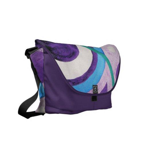 Circles Abstract design Messenger Bag