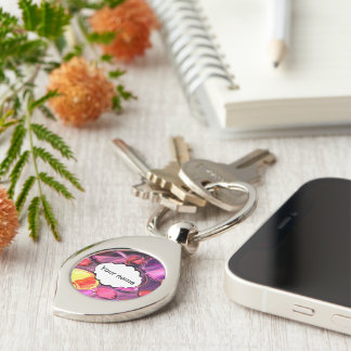 Circles abstract design keychain
