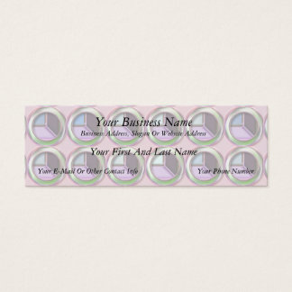 Circles and Cubes Mini Business Card