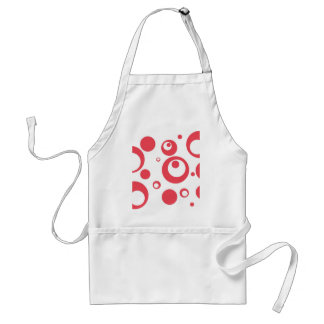 Circles and Dots in Geranium Adult Apron