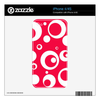 Circles and Dots in Geranium Skin For The iPhone 4