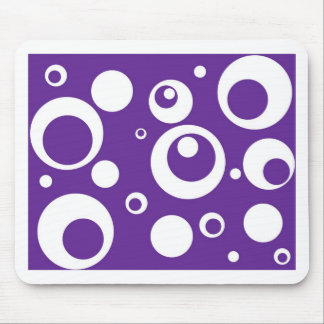 Circles and Dots in Grape Juice Purple Mouse Pad