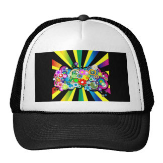 CIRCLES AND FLOWERS_6002524 TRUCKER HAT