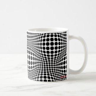 circles and hills 2 classic white coffee mug