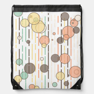 Circles and lines drawstring bag