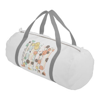Circles and lines duffle bag