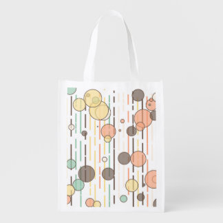 Circles and lines grocery bag