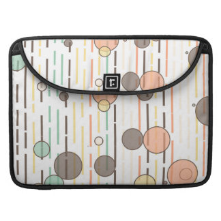 Circles and lines sleeve for MacBooks