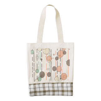 Circles and lines zazzle HEART tote bag