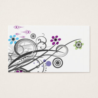 Circles and Loops Retro Business Profile Cards
