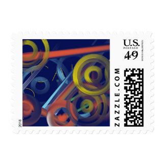 Circles and Moons of The Night Sky Postage