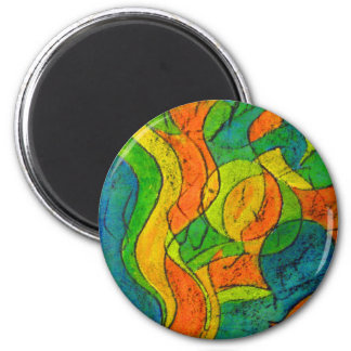 Circles and oscillations 2 inch round magnet