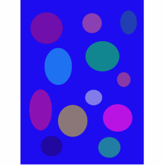 Circles and Ovals on a Blue Background Cutout