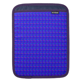 Circles and Ovals on a Blue Background iPad Sleeves