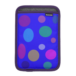 Circles and Ovals on a Blue Background Sleeve For iPad Mini