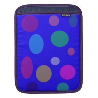 Circles and Ovals on a Blue Background Sleeves For iPads