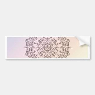 Circles and Rainbow Bumper Sticker