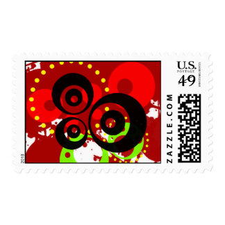 CIRCLES AND SPLATTERS BYPSYCHOKILLER138 POSTAGE