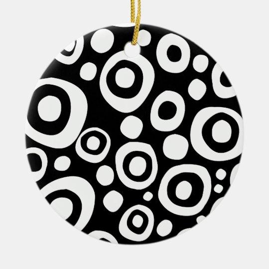 Circles and Spots 07 Ceramic Ornament