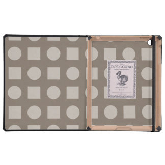 Circles and square brown iPad covers
