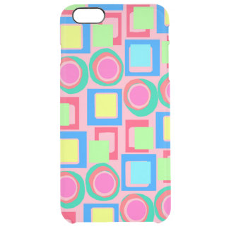 Circles and Squares Clear iPhone 6 Plus Case