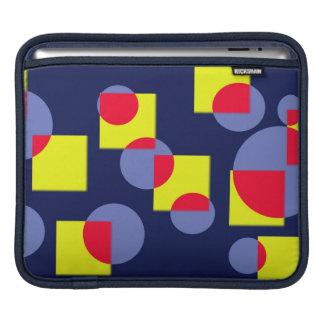 Circles and squares - modern art iPad sleeve