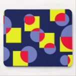 Circles and squares mouse pad