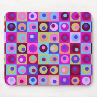 Circles and Squares Pattern Mouse Pad