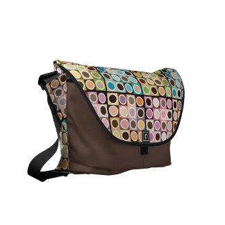 Circles And Squares Rickshaw Messenger Bag