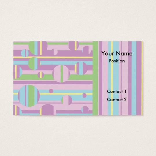 Circles and Stripes business cards - pink