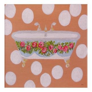 Circles and Suds Bathroom Art