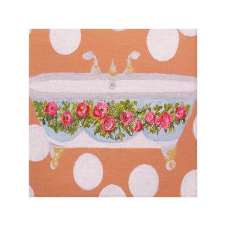 Circles and Suds Bathroom Art Canvas Print